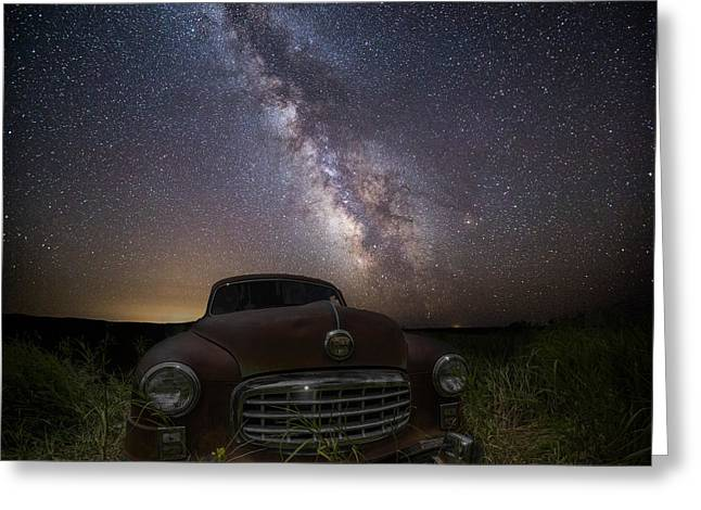 Height Greeting Cards - Stardust and Rust  Nash Motors Greeting Card by Aaron J Groen
