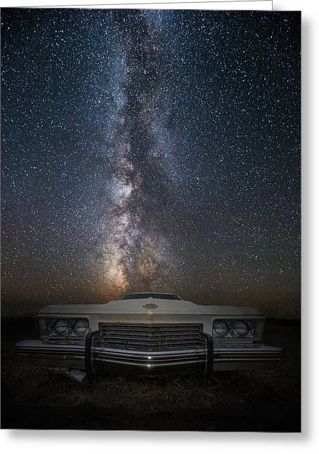 Rusted Cars Greeting Cards - Stardust and Rust  Riviera Greeting Card by Aaron J Groen
