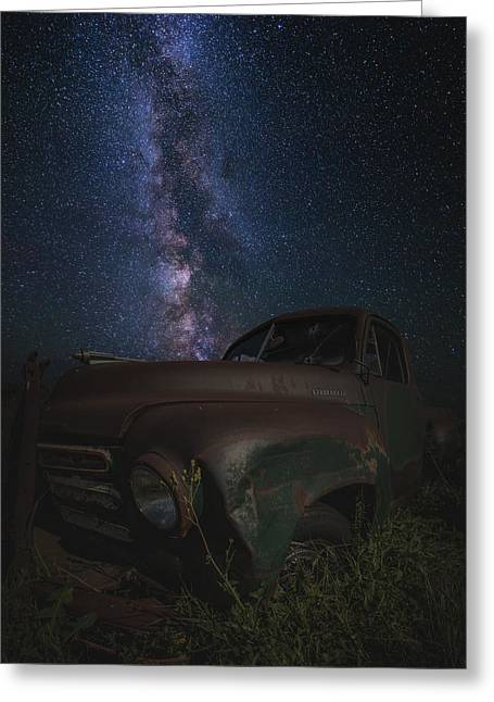 Old Trucks Greeting Cards - Stardust and Rust  Studebaker Greeting Card by Aaron J Groen