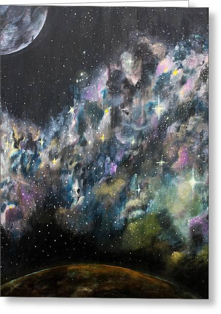 Twinkle Paintings Greeting Cards - Stardust Greeting Card by Billy Granneman