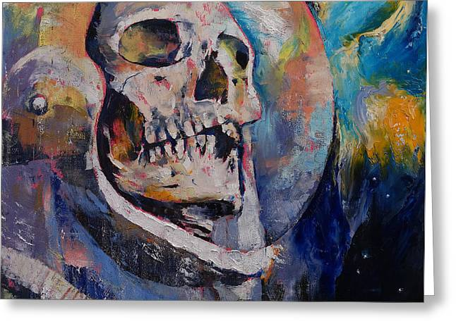 Trippy Greeting Cards - Stardust Greeting Card by Michael Creese