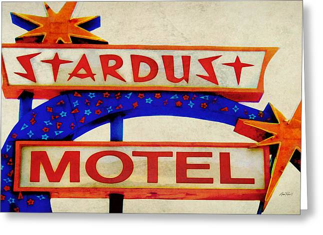 Bold Style Greeting Cards - Stardust Motel Sign Greeting Card by Ann Powell