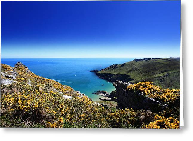 Beach Scenery Greeting Cards - Starehole Bay  Greeting Card by Ollie Taylor