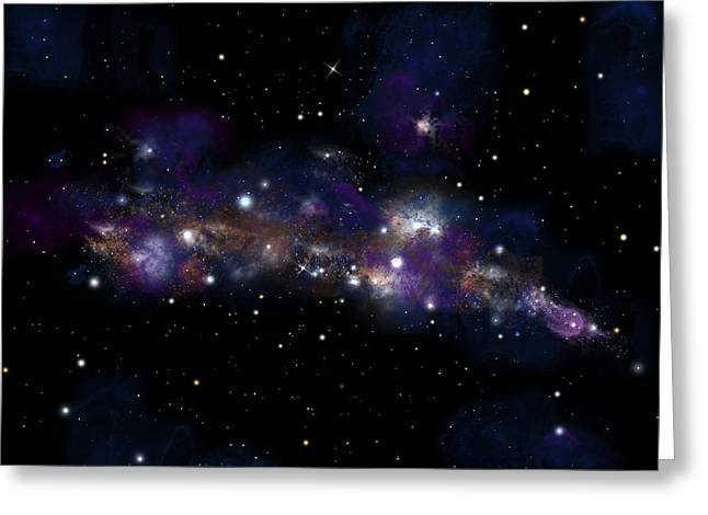 Jet Star Mixed Media Greeting Cards - Starfield No.122712 Greeting Card by Marc Ward