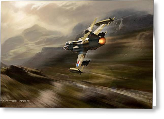 Wwi Greeting Cards - Starfighter Greeting Card by Peter Van Stigt
