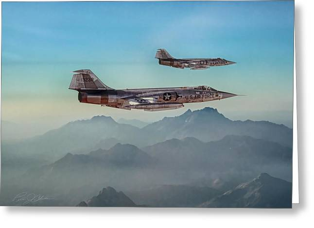 Starfighter Greeting Cards - Starfighters Greeting Card by Peter Chilelli