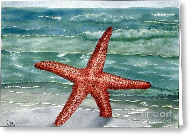 Bryant Paintings Greeting Cards - Starfish Greeting Card by Carla Jo Bryant