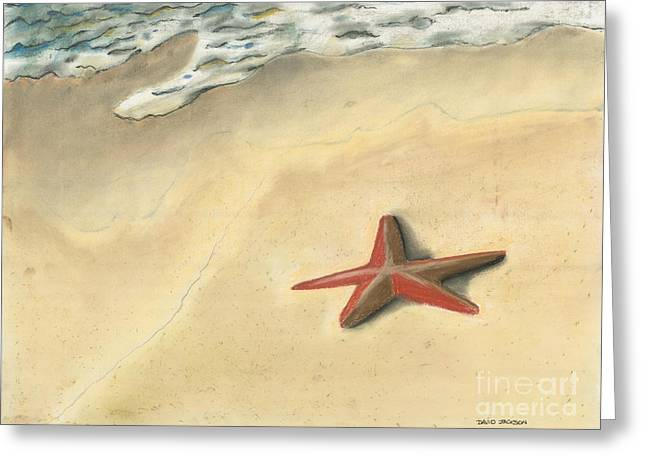 Atlantic Beaches Pastels Greeting Cards - Starfish Greeting Card by David Jackson