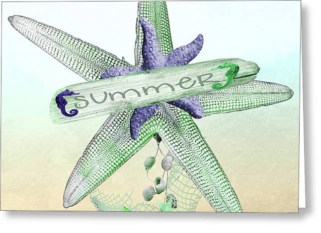 Sea Horse Greeting Cards - Starfish Greeting Card by Debra  Miller