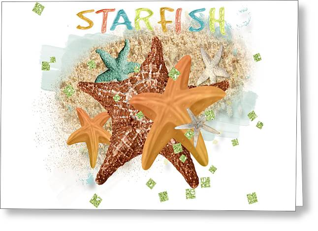 Star Fish Greeting Cards - Starfish Dreams Greeting Card by Debra  Miller