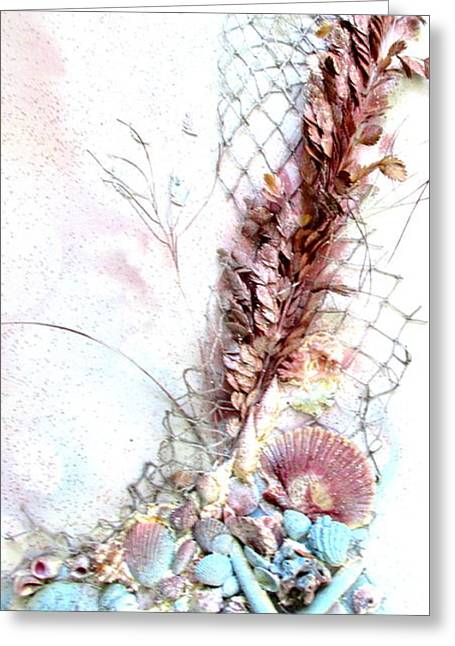 Bathroom Prints Mixed Media Greeting Cards - Starfish Is The Star Greeting Card by S AshleyAnn Goforth