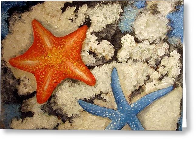 My Ocean Greeting Cards - Starfish Greeting Card by Michael Alvarez