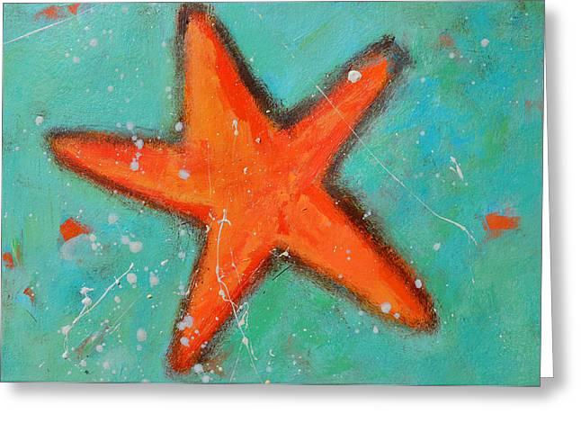 Starfish Posters Greeting Cards - Starfish Greeting Card by Patricia Awapara
