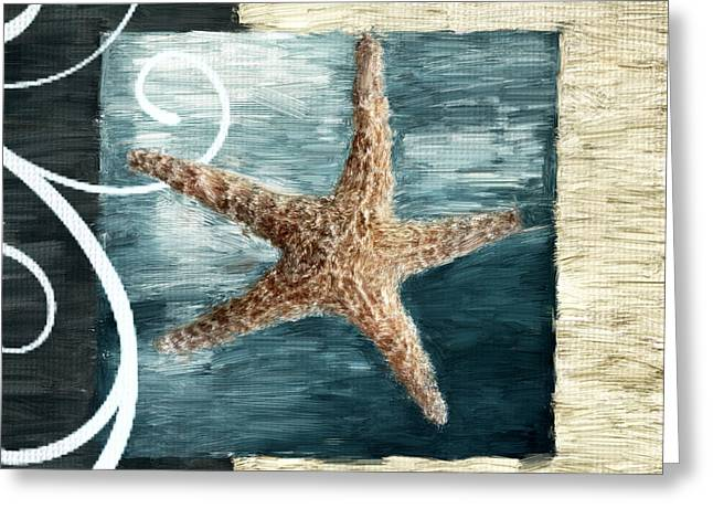 Shell Art Greeting Cards - Starfish Spell Greeting Card by Lourry Legarde