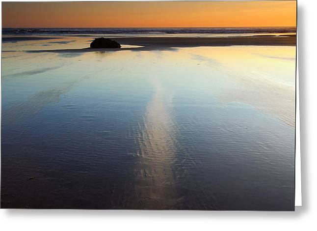 Starfish Sunset Greeting Card by Mike  Dawson