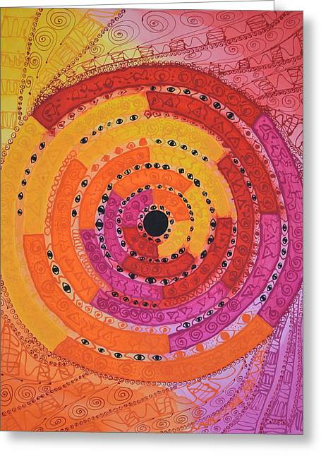 Colourful Surrealist Greeting Cards - Stargate Greeting Card by Callista Summerfield-Berlinghof