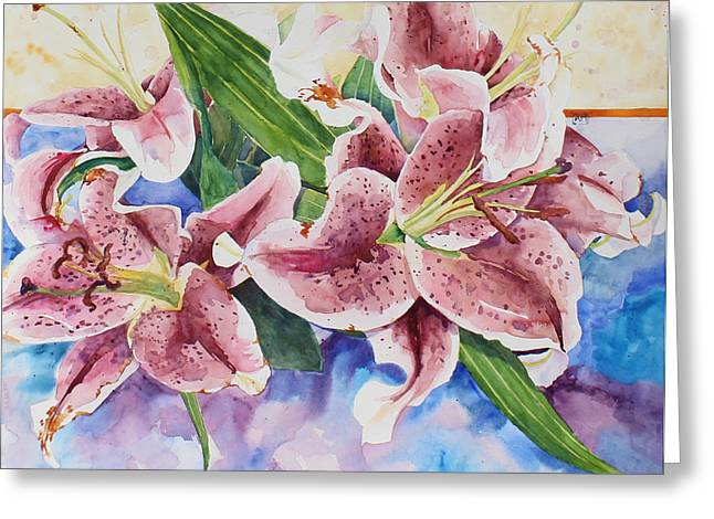 Stargazer Lily Greeting Cards - Stargazer Greeting Card by Andrea Merican
