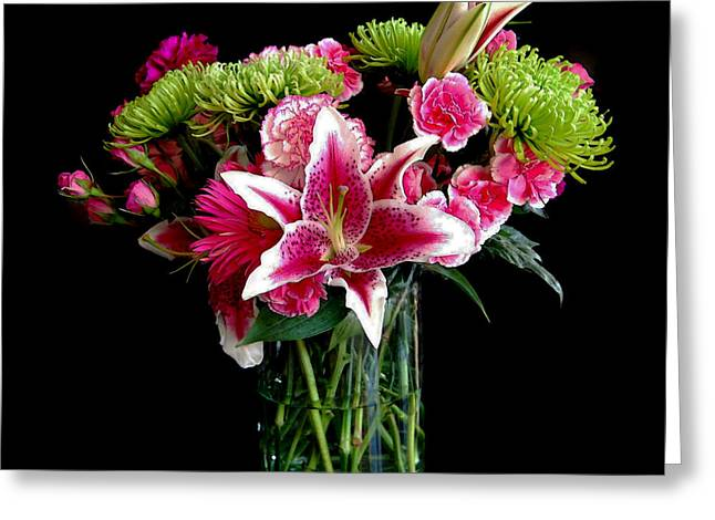 Catherine White Greeting Cards - Stargazer Lily Bouquet Greeting Card by Catherine Sherman