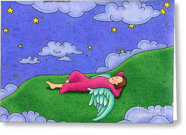 Drawing Color Pencils Drawings Greeting Cards - Stargazer Greeting Card by Sarah Batalka