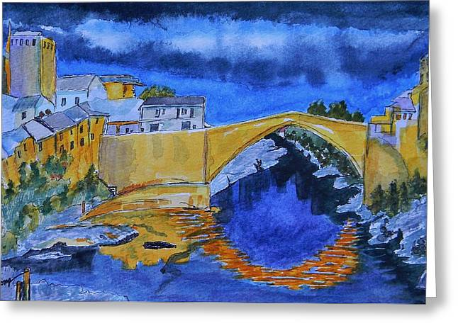 Staris Greeting Cards - Stari Most Greeting Card by Warren Thompson