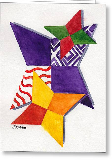 Star In Hand Greeting Cards - Starigami Greeting Card by Julie Maas