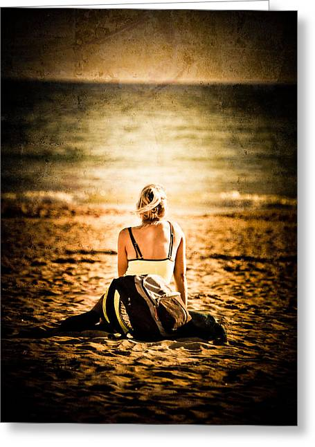 Lorient Greeting Cards - Staring at the Horizon Greeting Card by Loriental Photography