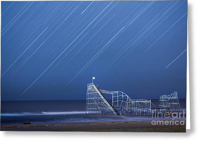 Ver Sprill Photographs Greeting Cards - Starjet under the Stars Greeting Card by Michael Ver Sprill