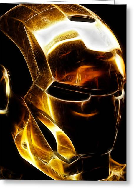 Anaheim California Greeting Cards - Stark Suit III - Fractal Greeting Card by Ricky Barnard