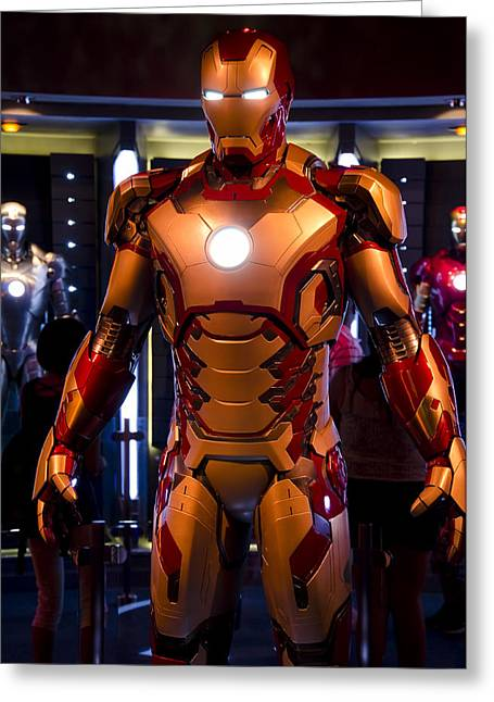 Iron Greeting Cards - Stark Suit Greeting Card by Ricky Barnard