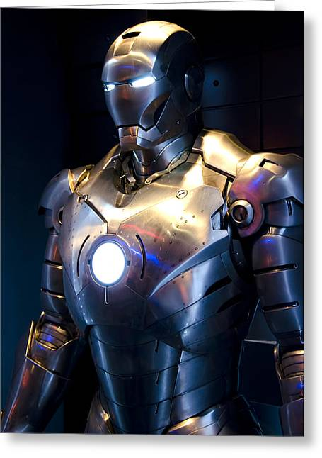 Marvel Comics Photographs Greeting Cards - Stark Suit V Greeting Card by Ricky Barnard