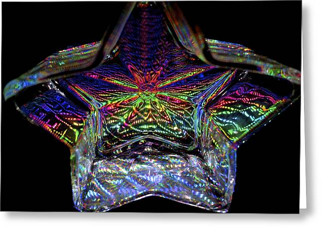 Color Bending Greeting Cards - Starlight Greeting Card by Charlie Brock