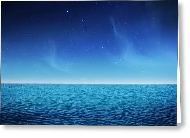 Sterne Greeting Cards - Starlight lagoon Greeting Card by Philippe Meisburger