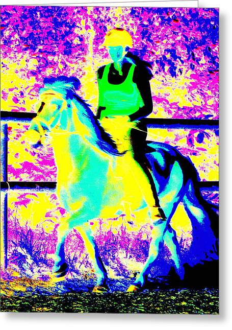 Psychiatric Greeting Cards - Starlight Ride Greeting Card by Hilde Widerberg