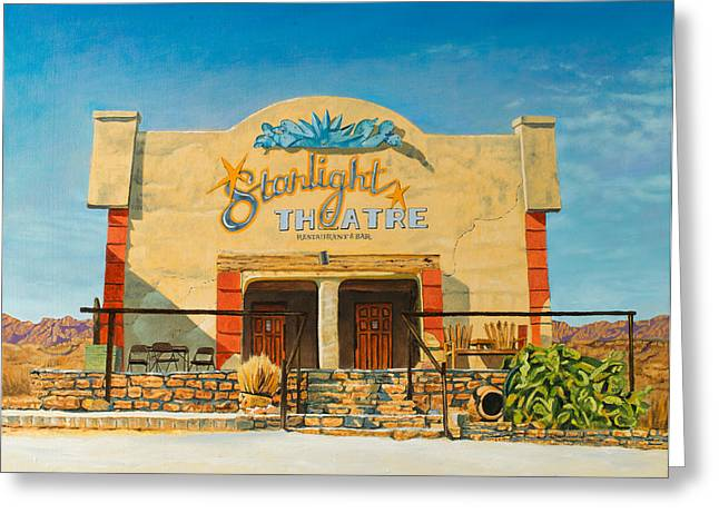 Terlingua Texas Greeting Cards - Starlight Theatre Terlingua Greeting Card by Karl Melton