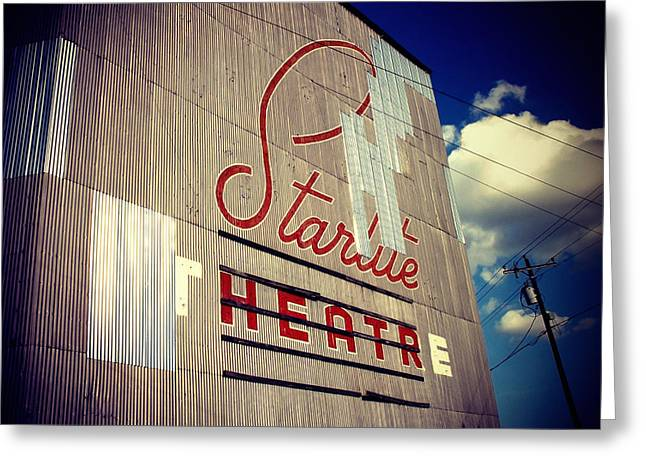 Drive In Theatre Greeting Cards - Starlite  Greeting Card by Trish Mistric