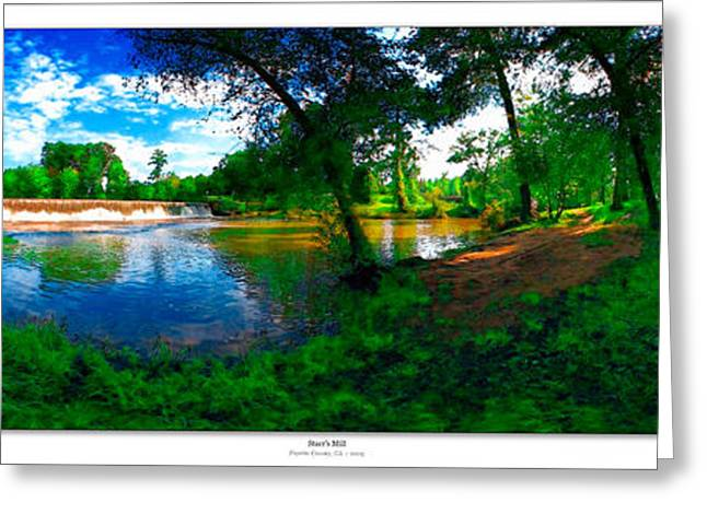Matre Greeting Cards - Starrs Mill 360 Panorama Greeting Card by Lar Matre