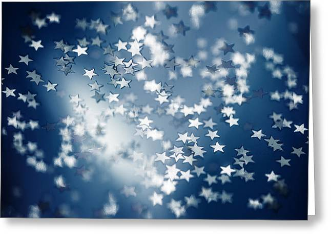 Twinkle Greeting Cards - Starry background Greeting Card by Anna Omelchenko