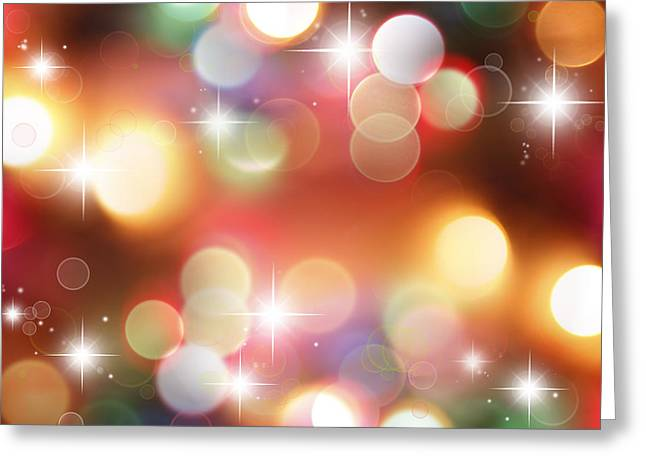 Star Bright Greeting Cards - Starry background Greeting Card by Les Cunliffe