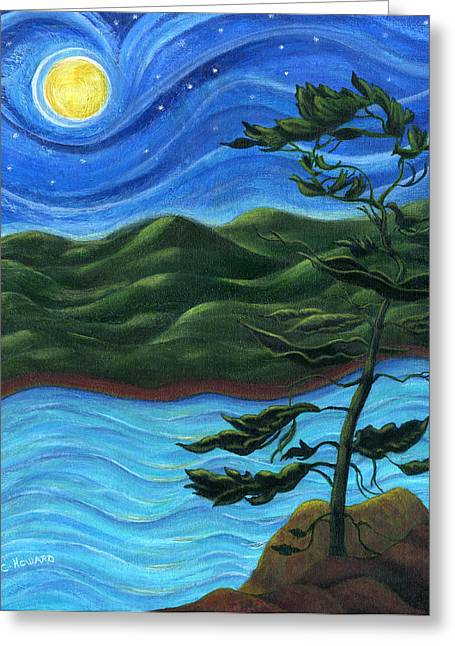 Catherine Howard Greeting Cards - Starry Night at Algonquin Park Greeting Card by Catherine Howard
