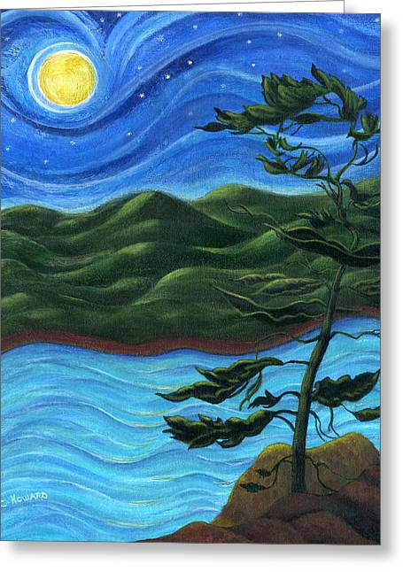 Catherine White Greeting Cards - Starry Night at Algonquin Park Greeting Card by Catherine Howard