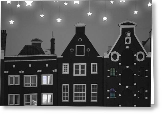 Gabled Greeting Cards - Starry Night Greeting Card by Juli Scalzi