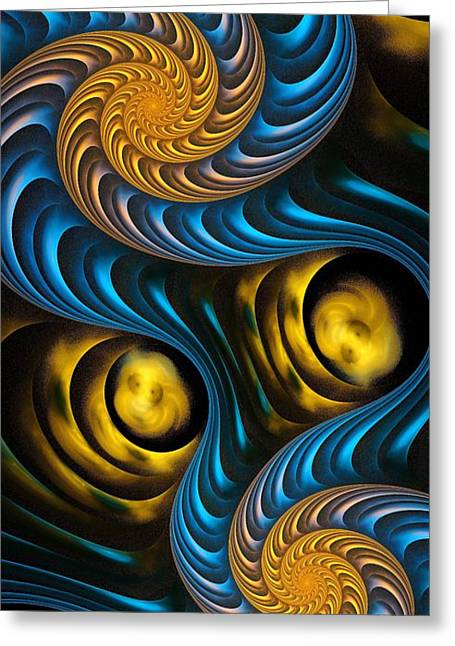 Old Masters Greeting Cards - Starry Night - Fractal Art Greeting Card by Anastasiya Malakhova