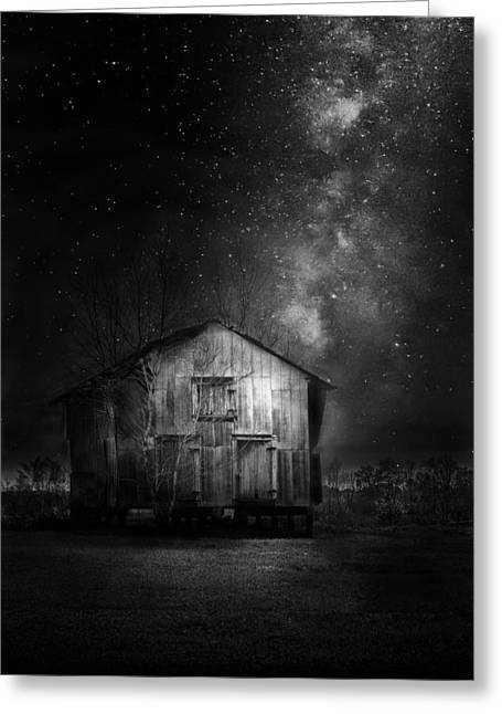 Country Shed Greeting Cards - Starry Night Greeting Card by Marvin Spates