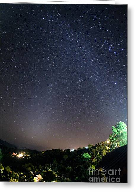 Star Valley Greeting Cards - Starry Night Sky Greeting Card by Babak Tafreshi