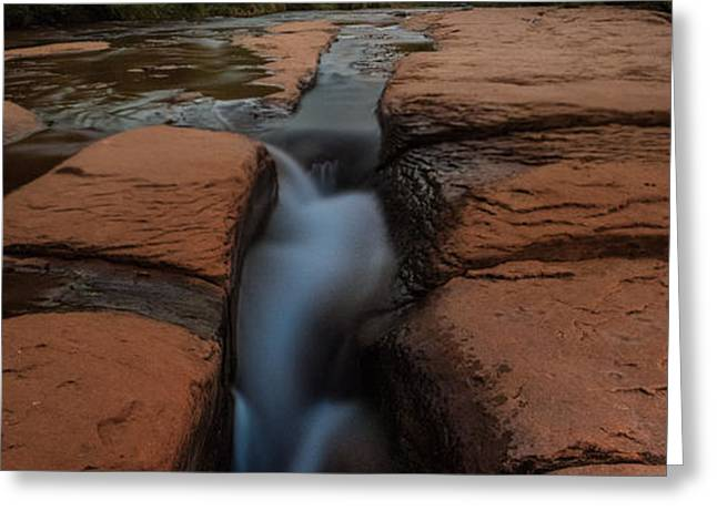 Starry Night Sluice Box Photography At Red Rock Crossing Greeting Card by Mike Berenson