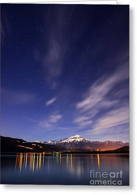 Night Photography Greeting Cards - Starry night Greeting Card by Yuri Santin