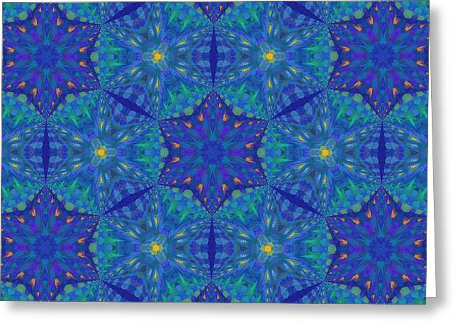 Your Home Mixed Media Greeting Cards - Starry Starry Night Abstract Greeting Card by Georgiana Romanovna