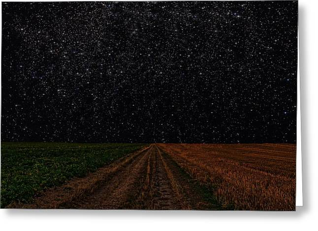 Black Lodge Photographs Greeting Cards - Starry Starry Night Greeting Card by David Dehner