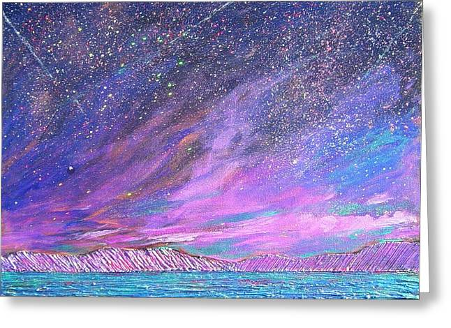 Starry.....starry Night Greeting Card by J Michael Orr