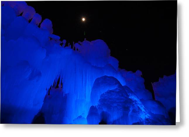 New England Greeting Cards - Stars above ice formation Greeting Card by Jeff Folger